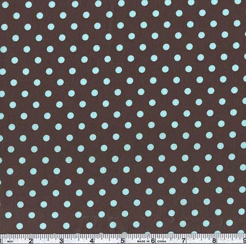 Michael Miller Laminated Cotton Dumb Dots Chocolate
