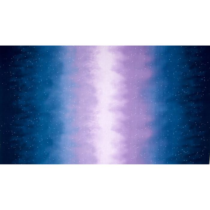 Enchanted Pines Sky Ombre Double Border Starry Night