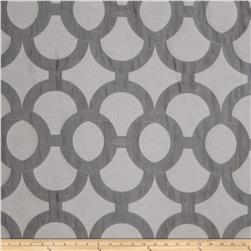 Fabricut Diego Lattice Faux Silk Charcoal