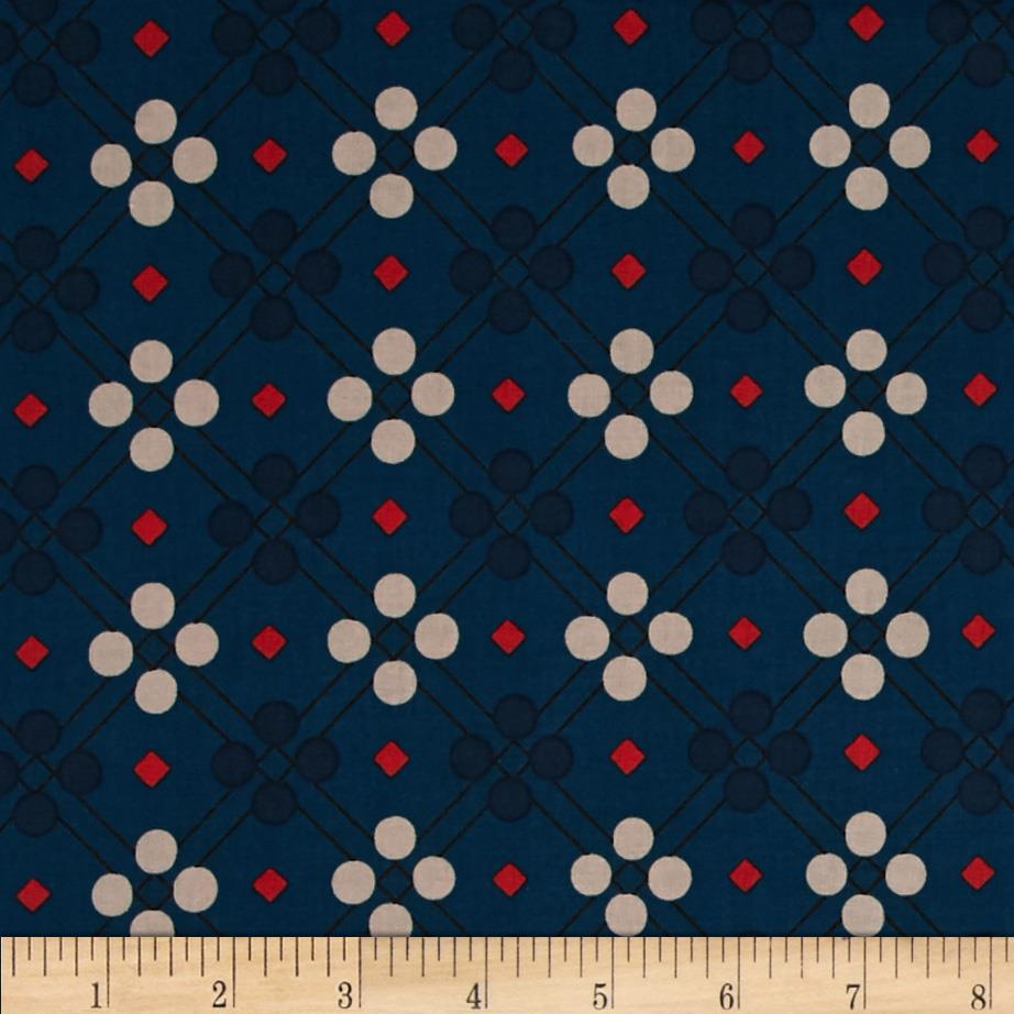 Cotton + Steel Picnic Blanket Teal Fabric By The Yard