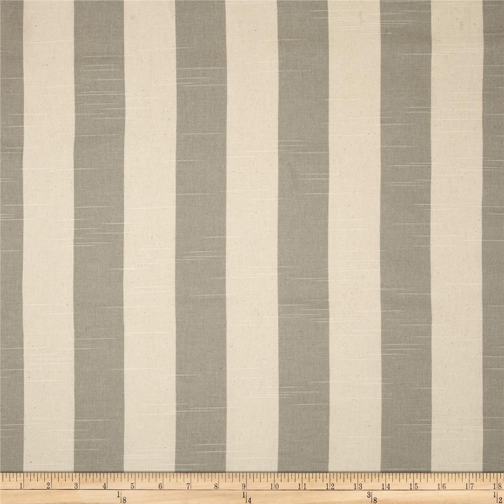 Premier Prints Stripe Slub Coastal Grey/Natural Fabric
