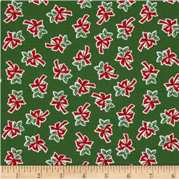 Where's Rudolph Mistletoe Green Fabric