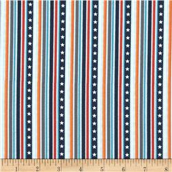 Blast-Off Word Stripe Blue