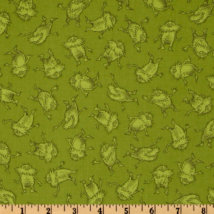The Lorax Organic Scattered Tonal Lorax Earth Fabric