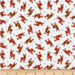 Timeless Treasures Christmas Mini Reindeer White