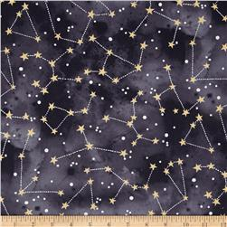 Michael Miller Moon & Stars Constellation Graphite
