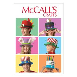 McCall's Event Hats Pattern M6858 Size OSZ