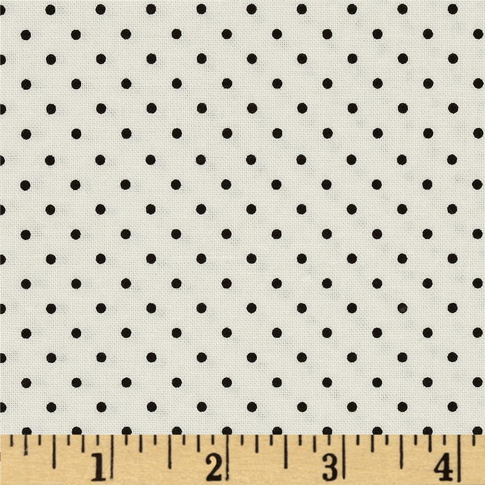 Riley Blake La Creme Basics Swiss Dots Cream/Black
