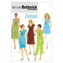 Butterick Misses' Maternity Top Dress Shorts and Pants