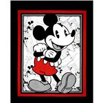 Disney Vintage Mickey Comic Strip Panel Black/Red
