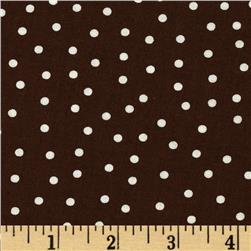 Sweetie Pie Snowmen Polka Dots Brown