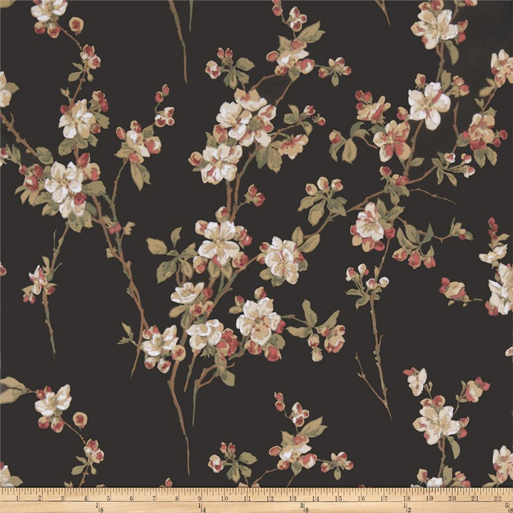 Fabricut 50038w Adele Wallpaper Midnight 01 (Double Roll)