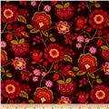 Intrigue Fancy Flannel Large Floral Magenta