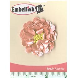 Small Flower Sequin Applique Old Pink