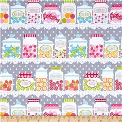 Cupcake Cafe Candy Jars Gray