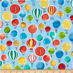 Kaufman Paris Adventure Hot Air Balloons Multi
