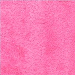 Whisper Coral Fleece Solid Medium Pink Fabric