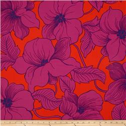 Surf N' Sand Tropicals Large Floral Tangerine Fabric