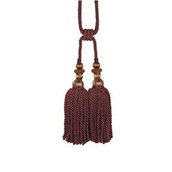 "Fabricut 31"" Bigelow Double Tassel Tieback Autumn Berry"
