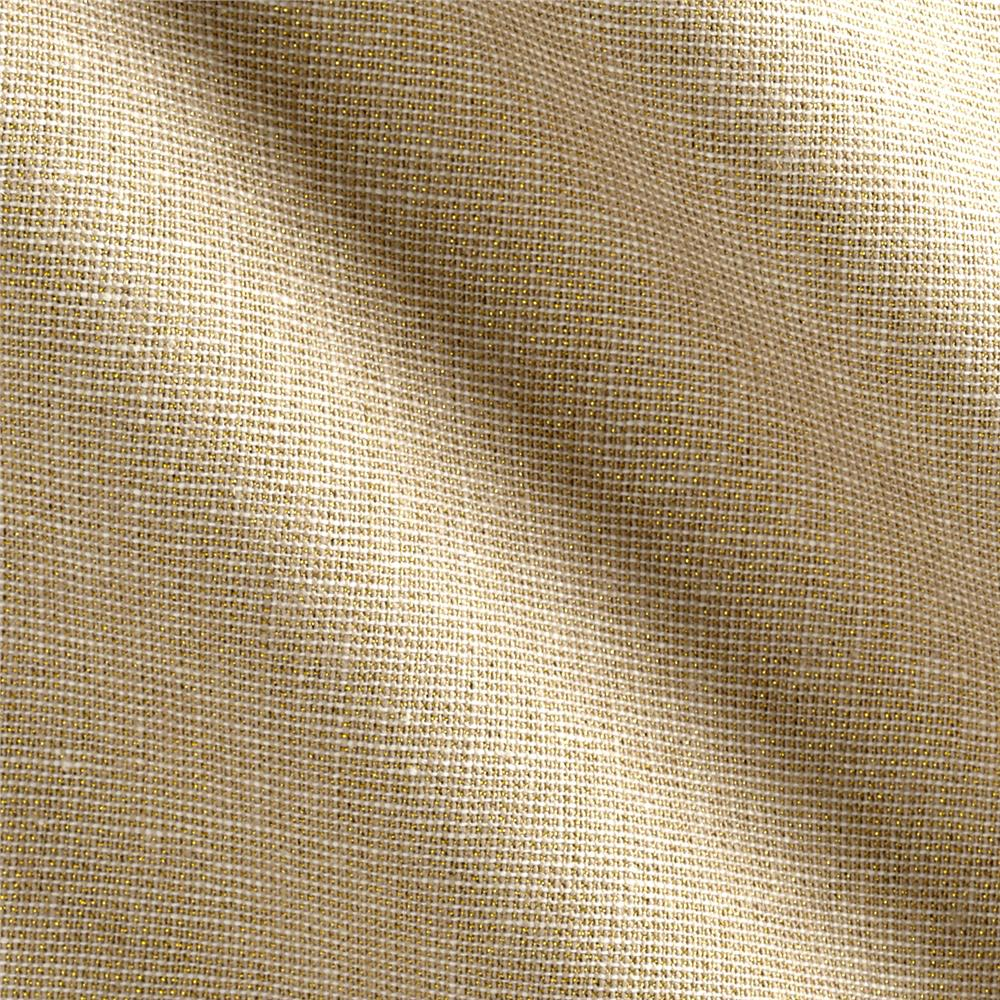 Kaufman Essex Yarn Dyed Linen Blend Metallic Sand Fabric By The Yard