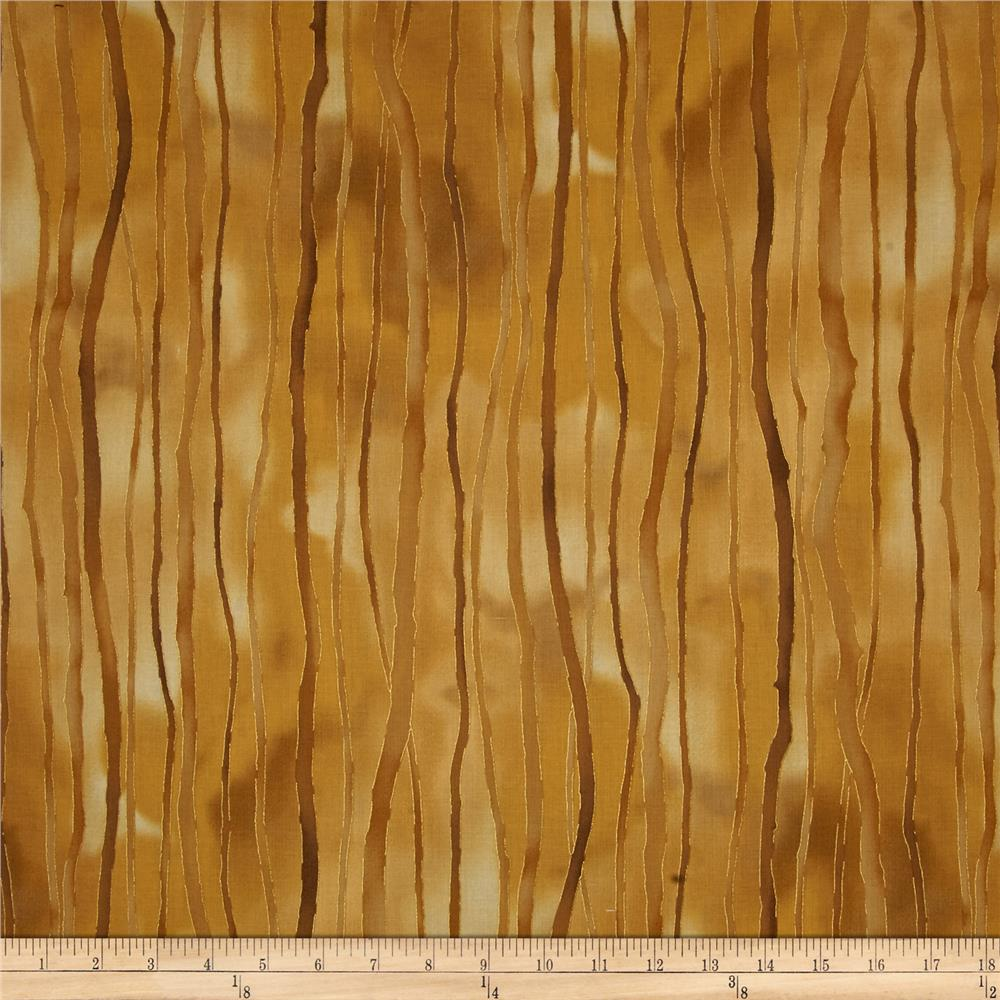 Kaufman Sound of the Woods Metallic Stripe Earth