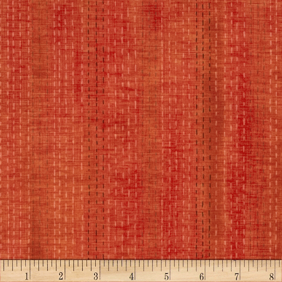 Studio Stash Broken Dash Stripe Tangerine Fabric