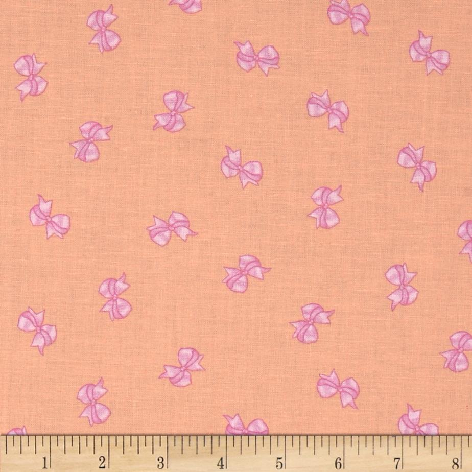 Michael Miller Cynthia Rowley Oh Baby Bows Peach