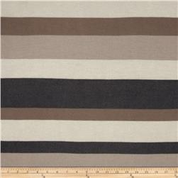 Designer Sweater Knit Stripes Brown/Tan