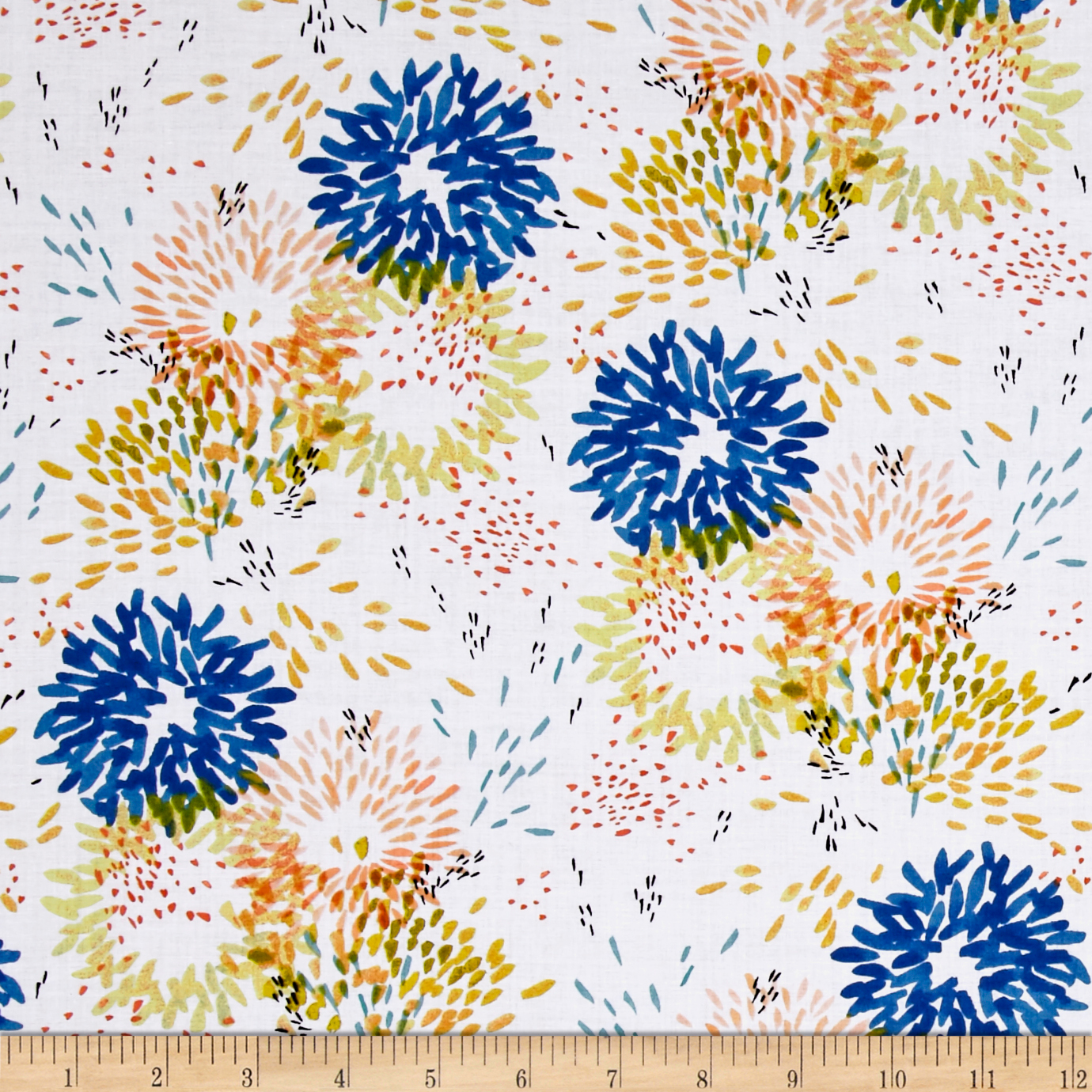 Aria Lawn Juniper White Fabric by Windham in USA