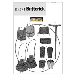 Butterick Misses'/Men's Wrist Bracers, Corset, Belt And Pouches Pattern B5371 Size XM0