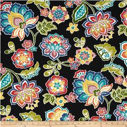 Tempo Indoor/Outdoor Fun Floral Black/Multi Fabric