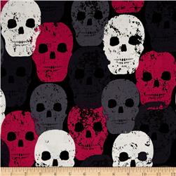 Michael Miller Skulls Out Skull of Rock Fuschia