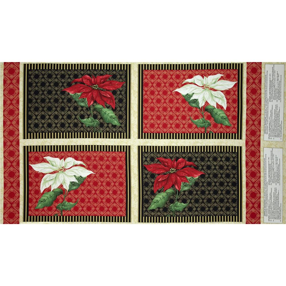 Christmas Joy Placemat Panel Multi Fabric By The Yard
