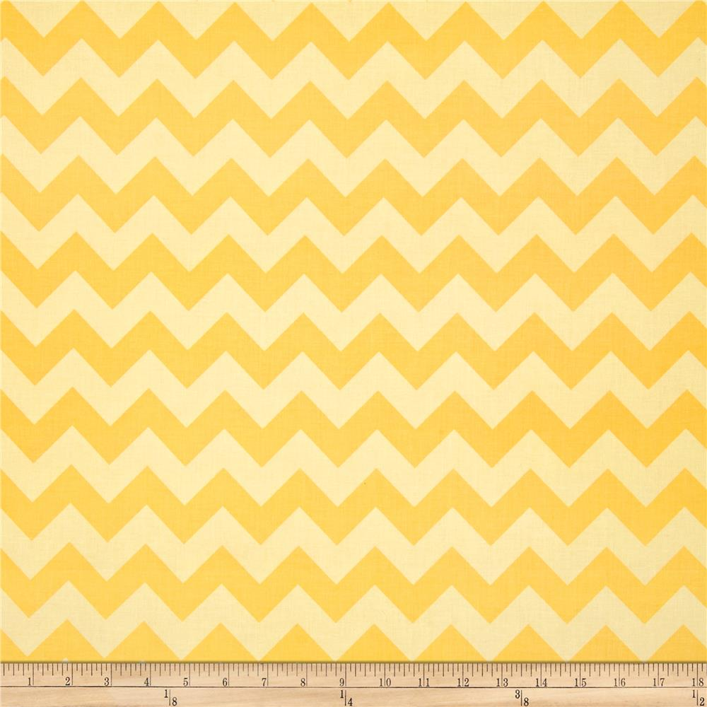 Riley Blake Wide Cut Chevron Medium Tone on Tone Yellow