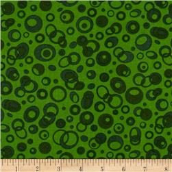 Abstract Circles Green