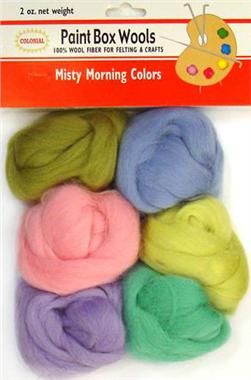 Paint Box Wool Roving Misty Morning