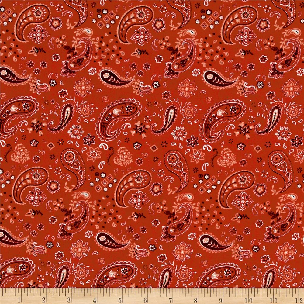 Early to Rise Paisley Red