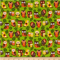 Animal Diary Owls Green