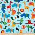 Jungle Creatures Animal Collage Bright