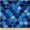 Holy Gathering Metallic Stained Glass Sapphire