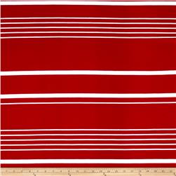 Liverpool Double Knit Multi Stripe Burgundy