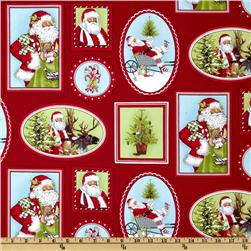 Holly Jolly Christmas Collage Holiday Red