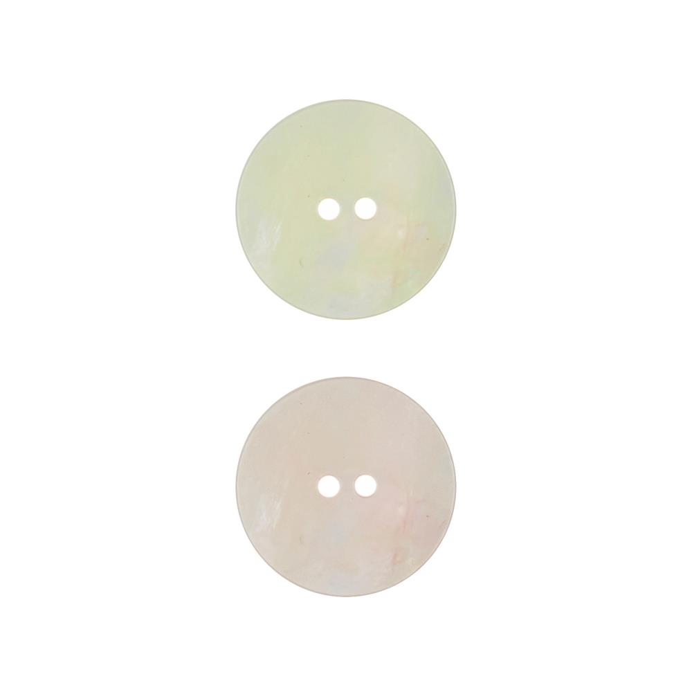 "Dill Button 7/8 "" Polyester Button White"