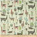 Michael Miller Lovely Llamas Lovely Llamas Mint