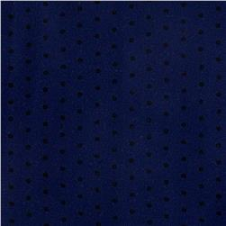 Rayon Crepe Mini Polka Dots Navy/Black