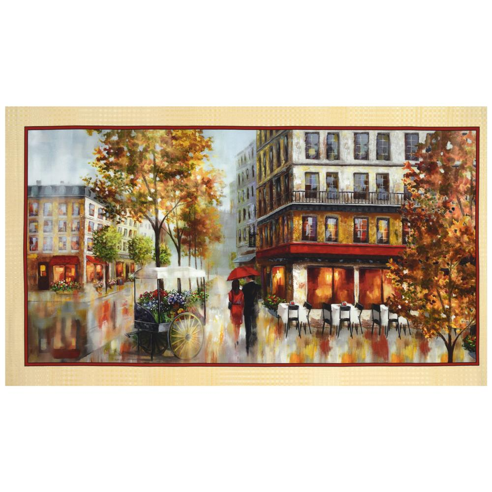 "Artworks Digital Romantic Promenade 24"" Panel Multi"