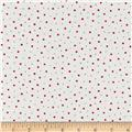 Moda Red Dot Green Dash Brushed Cottons Flurries Multi