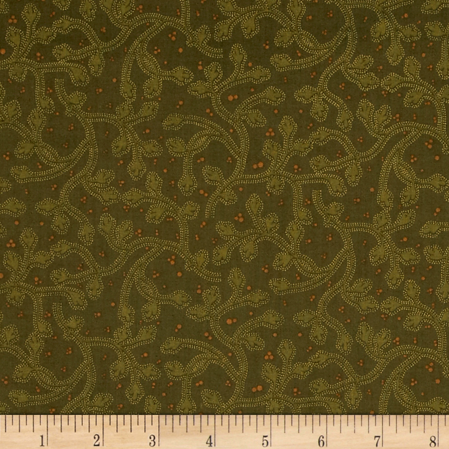 Prairie Home and Companions Companion Vine Olive Fabric