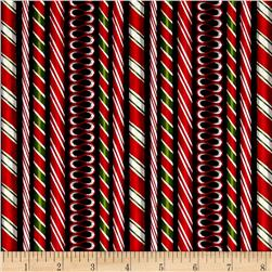 Kaufman Holly Jolly Christmas Candy Cane Black