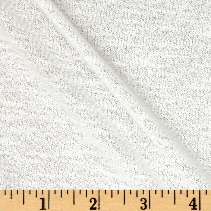 Crepe Textured Jersey Knit White